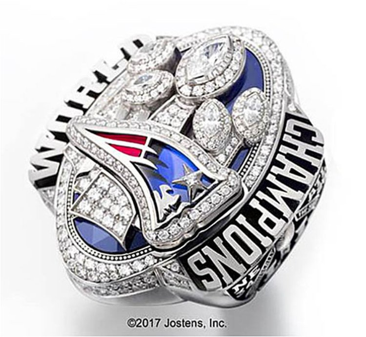 If Patriots Capture Their Sixth Super Bowl on Sunday, Expect the Championship Rings to Be Huge