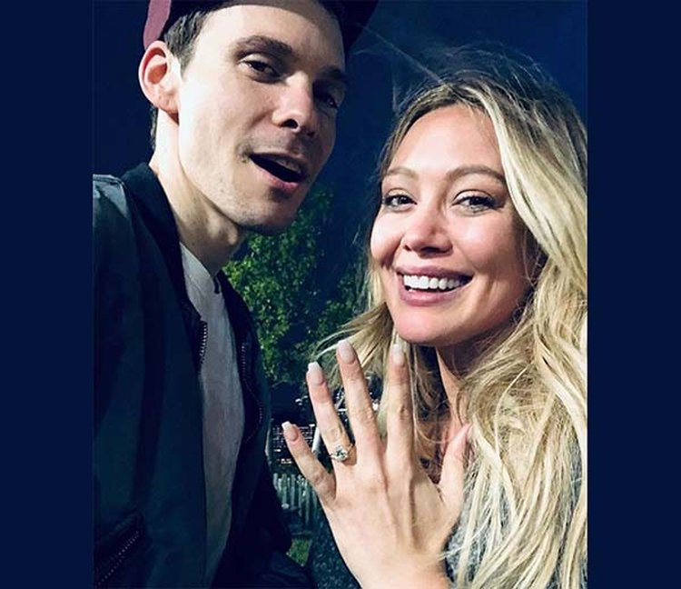 2482707a4 Hilary Duff Shows Off Her New Cushion-Cut Diamond Engagement Ring on  Instagram
